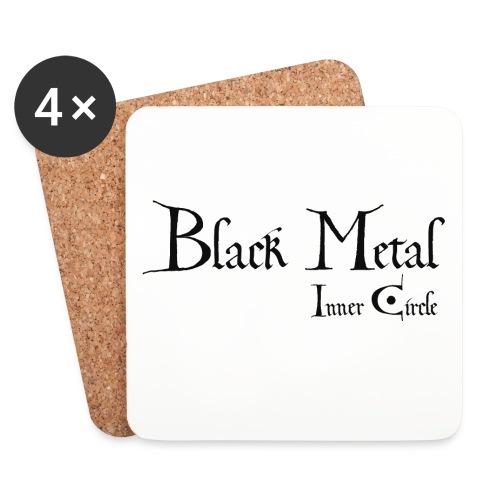 black metal Inner Circle, black ink - Coasters (set of 4)