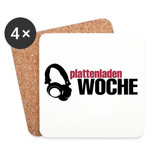 plattenwoche_schwarz_rot - Untersetzer (4er-Set)