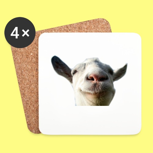 Goat png - Coasters (set of 4)