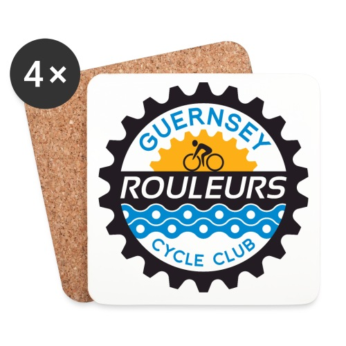 Guernsey Rouleurs Logo - Coasters (set of 4)