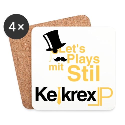 KelkrexLP Let s Plays mit Stil schwarz - Untersetzer (4er-Set)